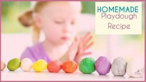 natural Homemade Playdough Recipe