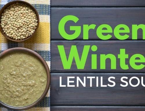 Green winter lentil soup